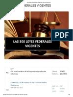300 Leyes Federales Vigentes _ Derecho Mexicano