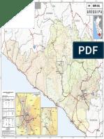 Mapa Vial de Arequipa - Perú