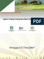 Urgensi Undang-Undang Desa Dalam Konteks Jawa Timur