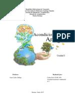 acondicionamiento ambiental