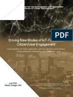 Driving New Modes of IoT-Facilitated Citzen/User Engagement
