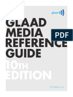 GLAAD Media Reference Guide Tenth Edition, 2016