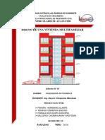 Informe 01 Diseño de Vivienda (Ing. Antisismica)