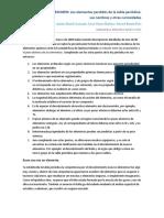 Resumen Tabla Periodica Y Curiosidades