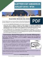 Newsletter 34  - Assemblée Générale des Actionnaires 2018