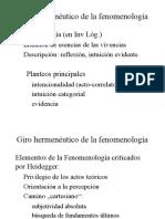 Giro Hermenéutico de La Fenomenología