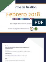 Informe de Gestión - Febrero 2018