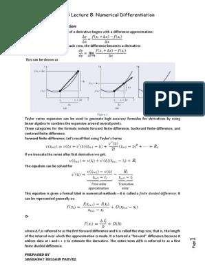 SEC-EEE-305-lec-8   Finite Difference   Derivative