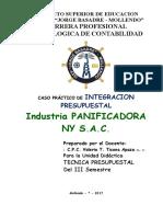 Caso Formulación Presupuesto Maestro Industria Pacificadora Ny Sac Enunciado