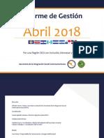 Informe de Gestión - Abril 2018