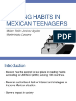 Reading Habits in Mexican Teenagers