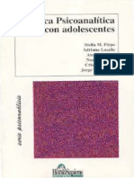 Firpo Et Al. (2000). Clínica Psicoanalítica Con Adolescentes. Ed. Homo Sapiens