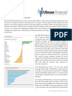Ulman Financial 3rd Quarter Newsletter - Trade Worries Rattle Aging Bull