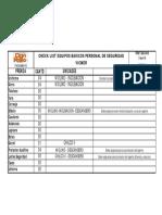 Check List Consolidado VICMER