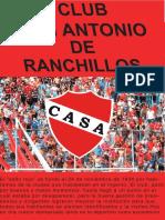 Gacetilla del Club Atlético San Antonio de Ranchillos