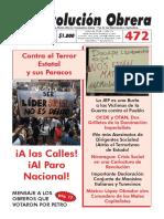 Periódico  Revolución Obrera No. 472