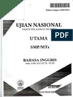 Naskah Soal UN Bahasa Inggris SMP 2015 Paket 1.pdf