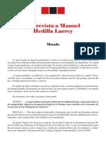 Entrevista Manuel Hedilla Larrey Mundo