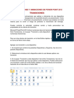 Las Transiciones y Animaciones de Power Point 2013