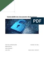 Vulnérabilité Des Documents Électroniques
