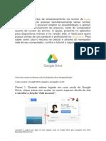 Tutorial Acessando Google Drive