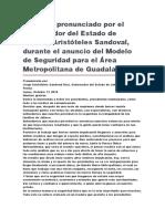 Modelo de Seguridad Para El Área Metropolitana de Guadalajara