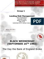 Black Wednesday September 16th 1992 Bank  of England