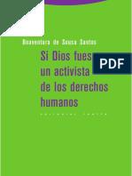 Boaventura de Souza-Si Dios Fuese Un Activista de Los Derechos Humanos