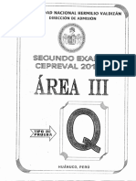 AREA III 2do Examen Cepre 2018 - A