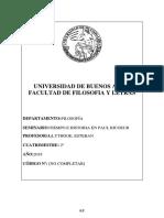 Programa Seminario Tiempo e Historia en Paul Ricoeur