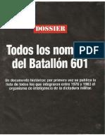 listado batallón 601