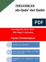 2 Ppt Kelas Xii k 13 Iman Kepada Qadha Qadar Hery Nugroho