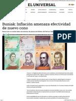 Buniak_ Inflación Amenaza Efectividad de Nuevo Cono