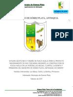Estudio Geotecnico y Diseño de Placa Huella , Gomez Plata
