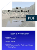 2010 Proposed Budget Presentation