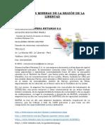 Empresas Mineras de La Región de La Libertad