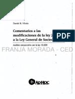 Ley de Sociedades Comentada Tras La Reforma - Daniel Vitolo (2015)