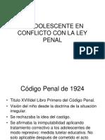 El Adolescente en Conflicto Con La Ley Penal
