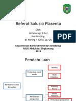 Referat Solusio Plasenta