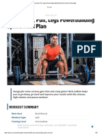 6 Day Push, Pull Legs Powerbuilding Split & Meal Plan