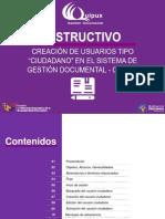 """Instructivo de Creacion de Usuarios Tipo """"Ciudadano"""" en El Sistema de Gestion Documental Quipux"""