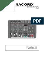 Dynacord Powermate 600 Powered Mixer Sm