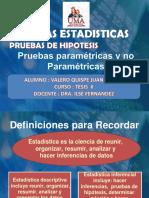 PRUEBAS PARAMETRICAS