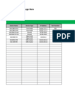 Network Documentation Series Network Sheets Template V0.0.0