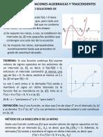 Análisis Numérico - Raices de Funciones 25-6-2018