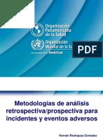 Analisis Retrospectivo Prospectivo de Eventos Adversos OMS