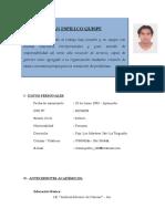 Curriculum de Ivan Espillco Quispe Oficial