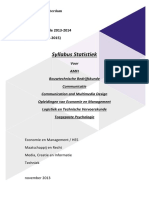 Syllabus Statistiek Wiskunde a November 2013