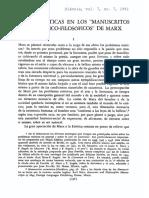 Adolfo Sánchez Vázquez - Ideas Estéticas en Los Manusctritos Económico-filosóficos de Marx