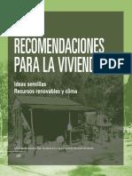 recomendaciones diseño sustentable para  viviendas
